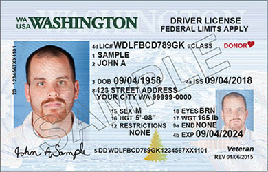 Washington State driver's license